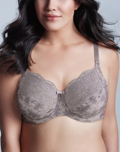 WonderBra Printed Full Support Underwire Lace Top Cup Bra